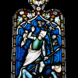 Religious stained glass window — Stock Photo #9980827