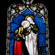 Religious stained glass window — Foto de Stock