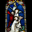Religious stained glass window - Foto de Stock