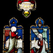Religious stained glass window — Stock Photo #9980850