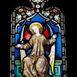 Religious stained glass window — Stock Photo #9980858