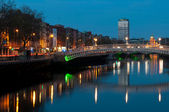 Dublin at night — Stock Photo