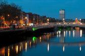 Dublin w nocy — Zdjęcie stockowe