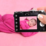 Newborn baby girl snapshot — Stock Photo #7973428