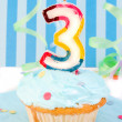 Boy's third  birthday — Stock Photo