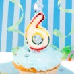 Boy's sixth birthday — Stock Photo