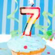 Boy's seventh birthday — Stock Photo