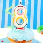 Boy's third birthday — Stock Photo