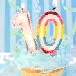 Boy's tenth birthday — Stock Photo