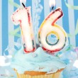 Stock Photo: Teen boy's sixteenth birthday