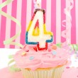 Young girl's birthday — ストック写真