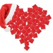 Stock Photo: Heart of gift boxes