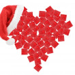 Heart of gift boxes — Stock Photo