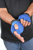 Weighted gloves — Stock Photo