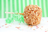 Caramel candy apple — Stock Photo