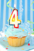 Boy's fourth birthday — Stockfoto