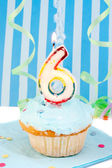 Boy's sixth birthday — ストック写真