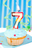Boy's seventh birthday — Stock Photo