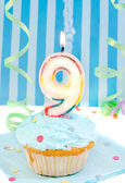 Boy's ninth birthday — Foto Stock