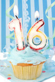 Teen boy's sixteenth birthday — Stock Photo
