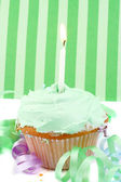 Birthday cupcake — Stockfoto