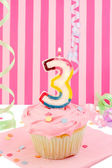 Young girl's birthday — Stockfoto