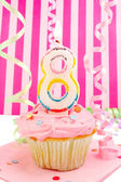 Young girl's birthday — Stok fotoğraf