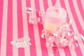 Baby girl milk bottle — Stock Photo