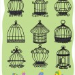 Stok Vektör: Bird cages