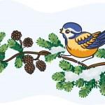 Bird on the tree — Stock Vector #8062542