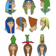 Egyptian hats — Stock Vector