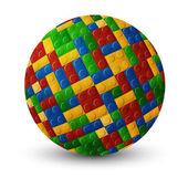 Plastic pieces sphere — Stock Vector
