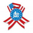 4th of July badge — Vettoriali Stock