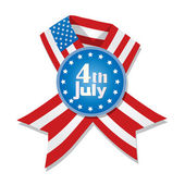 4th of July badge — Vettoriale Stock