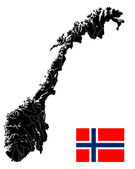 Very detailed Norway map — Stock Vector