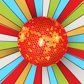 Retro brilhante bola de discoteca — Vetorial Stock