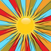 Retro sun — Stock Vector