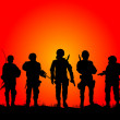 Stock Vector: Soldiers