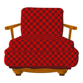 Red leather arm chair — Stock Vector