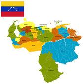 Districts of Venezuela — Stock Vector