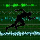 Cardio — Vector de stock