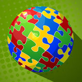 Sphere puzzle background — Stockvektor