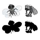 Brzydki bugów — Wektor stockowy