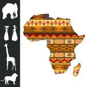 Afrika tasarım — Stok Vektör