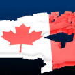 Royalty-Free Stock Photo: Map the Canada