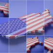 Pixelated sign USA — Stock Photo
