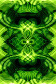 Seamless green fractal — 图库照片