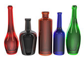Set of bottles colorful — Stock Photo