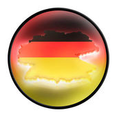 Mapa německo — Stock fotografie
