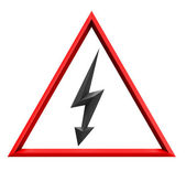 Sign of high tension — Stock Photo